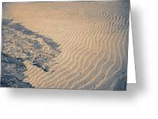 Sand Patterns Greeting Card