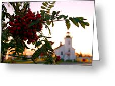Sand Point Lighthouse Escanaba Michigan  Greeting Card