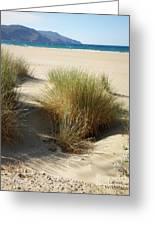 Sand Sea Mountains - Crete Greeting Card