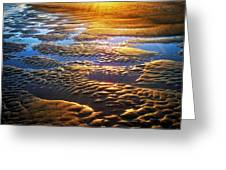 Sand Textures At Sunset Greeting Card