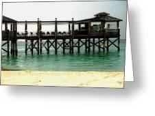 Sandals Resort Nassau Pier Greeting Card