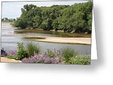 Sandbanks In The River Greeting Card