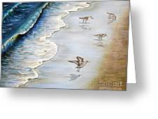 Sandpipers On The Beach Greeting Card