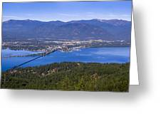 Sandpoint From Trail 3  -  110923-021 Greeting Card