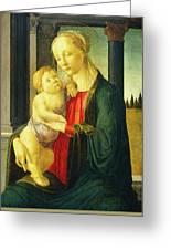 Sandro Botticelli, Madonna And Child, Italian Greeting Card