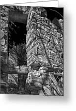 Sandstone Arch Jerome Black And White Greeting Card
