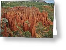 Sandstone Cliffs Greeting Card by Liudmila Di