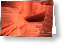 Sandstone  Ledges And Swirls Greeting Card
