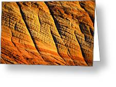 Sandstone Of Time Greeting Card