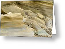 Sandstone Sediment Smoothed And Rounded By Water Greeting Card