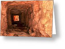 Sandstone Tunnel Greeting Card