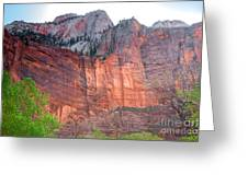 Sandstone Wall In Zion Greeting Card by Robert Bales