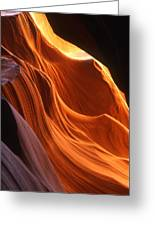 Sandstone Walls Antelope Canyon Arizona Greeting Card