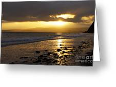 Sandy Bay At Dusk Greeting Card