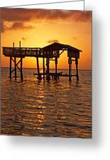 Sandy Bay Sunset Greeting Card