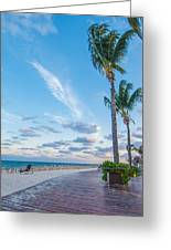 Sandy Beach And Beautiful Clouds  Greeting Card