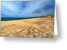 sandy beach in Piscinas Greeting Card