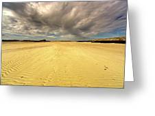 Sandy Beach, Scotland Greeting Card
