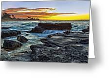 Sandy Beach Sunrise Greeting Card