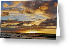 Sandy Beach Sunrise Greeting Card