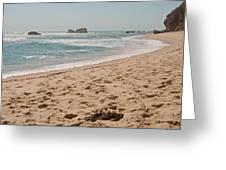 Sandy Beach With Glare  Greeting Card
