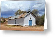 Sangre De Cristo Chapel In Cuartelez In New Mexico Greeting Card