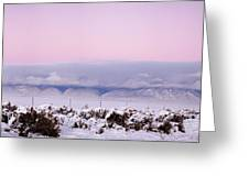 Sangre De Cristo Range With Clouds Greeting Card