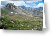 Sangre De Cristos Meadow And Mountains Greeting Card