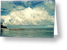 Sanibel Island Clouds Greeting Card
