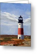 Sankaty Head Lighthouse Nantucket Massachusetts Greeting Card