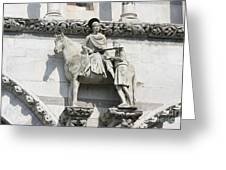 Sankt Martin Statue Lucca Greeting Card