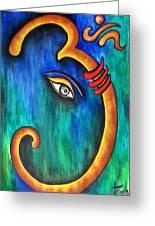 Sanskrit Om Ganesha Greeting Card