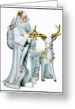 Santa And Reindeer Greeting Card