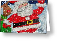 Santa And Rudolph Greeting Card