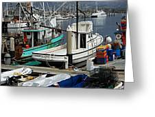 Santa Barbara Fishing Boats Greeting Card