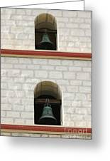 Santa Barbara Mission Bells Greeting Card