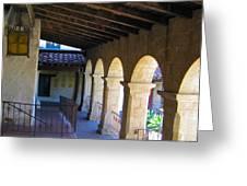 Santa Barbara Mission Cloister Greeting Card