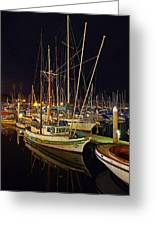 Santa Barbata Harbor Color Greeting Card