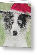 Santa Blues Greeting Card