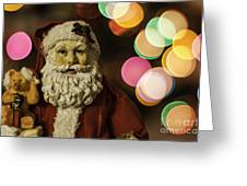 Santa Bokeh 2 Greeting Card