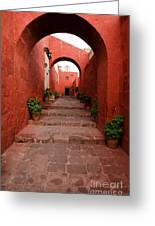 Santa Catalina Monastery In Arequipa Peru Greeting Card