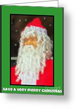Santa Christmas Card Greeting Card