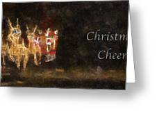 Santa Christmas Cheer Photo Art Greeting Card