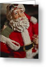 Santa Claus - Antique Ornament - 02 Greeting Card