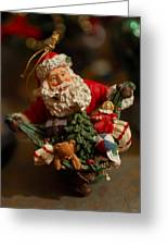 Santa Claus - Antique Ornament - 04 Greeting Card