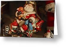 Santa Claus - Antique Ornament -05 Greeting Card