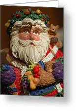 Santa Claus - Antique Ornament - 20 Greeting Card by Jill Reger
