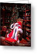 Santa Claus Greeting Greeting Card by Scott Allison