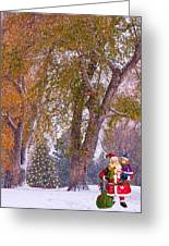 Santa Claus In The Snow Greeting Card