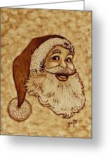 Santa Claus Joyful Face Greeting Card